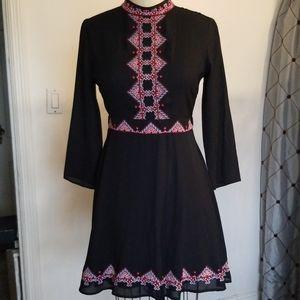 Asos black embroidery dress
